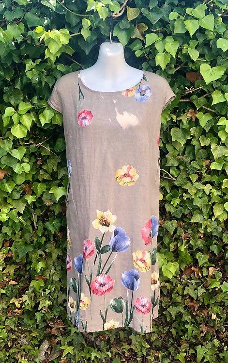 Taupe Flower Dress