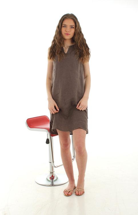 Short V Dress Taupe