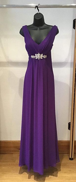 Yve Chiffon Dress Purple