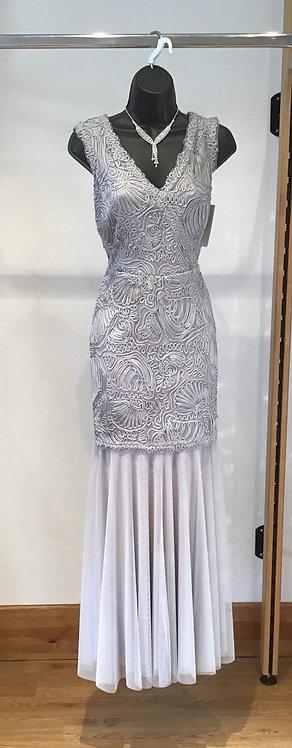 Jacque Vert Grey Lace Dress