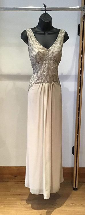 Ariela Beaded Chiffon Dress