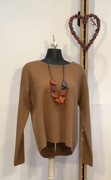 Split Back Jumper Camel