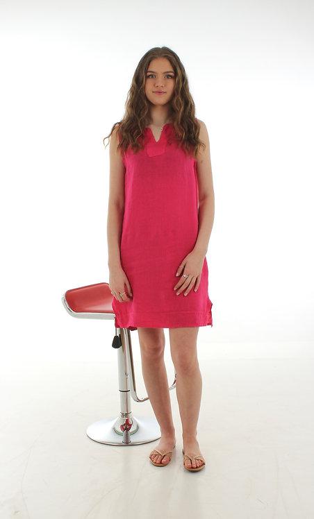 Short V Dress Fuchsia