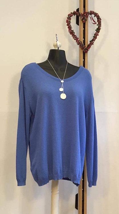 Blue Fine Knit Jumper