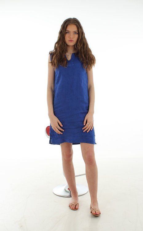 Short V Dress Royal Blue