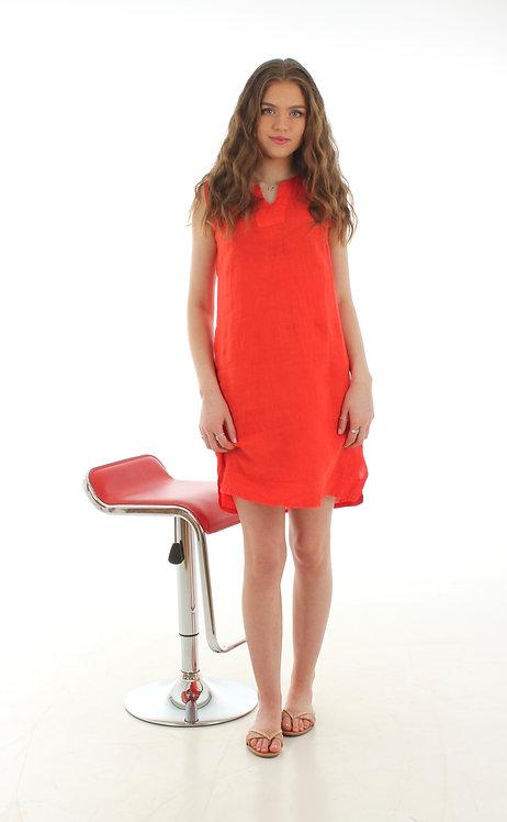 Short V Dress Orange
