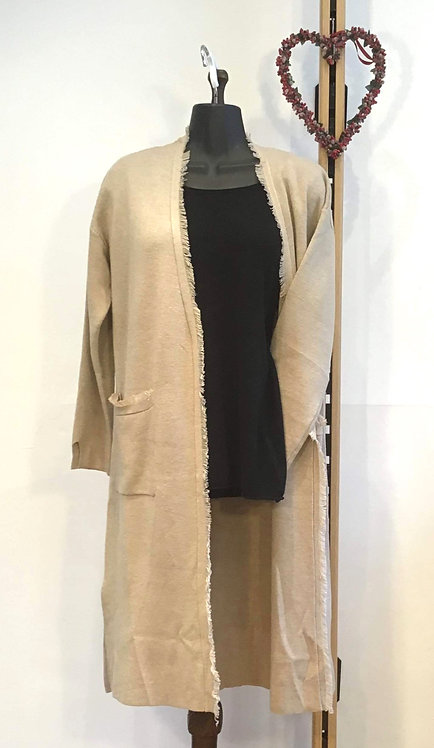 Detailed Hem Cardigan Camel