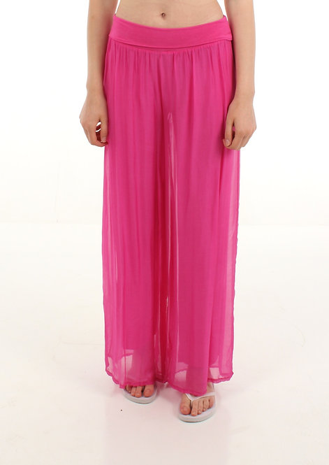 Silk Trousers Fuchsia