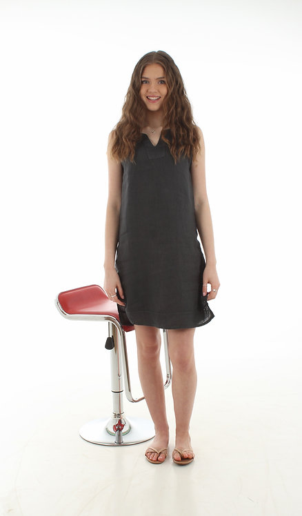 Short V Dress Dark Grey