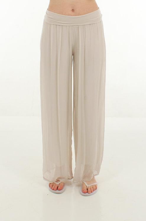 Silk Trousers Cream
