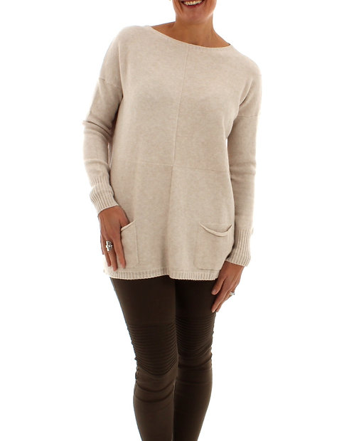 Oat Jumper with Neck Piece