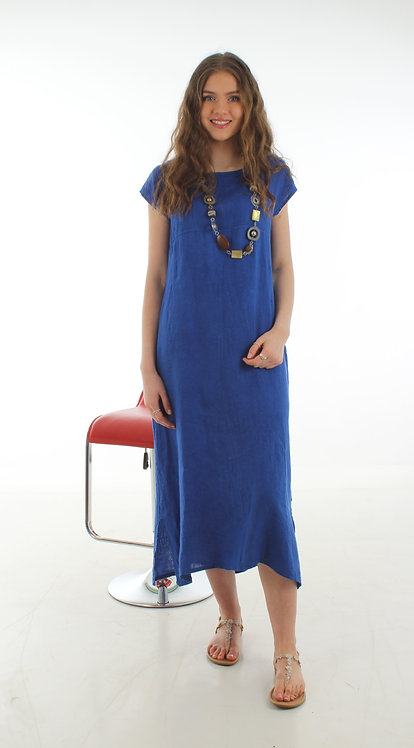 Cap Sleeve Dress Royal Blue