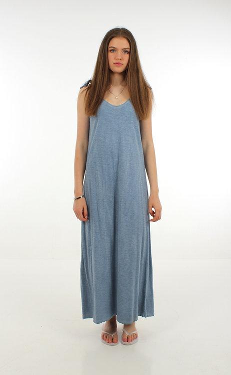 Long Cotton Dress Blue