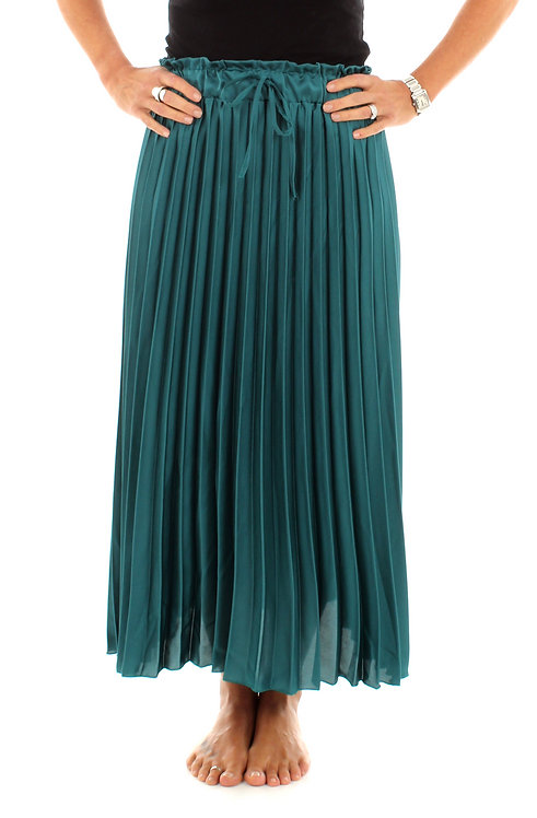 Pleated Skirt Dark Turquoise