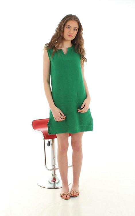 Short V Dress Green
