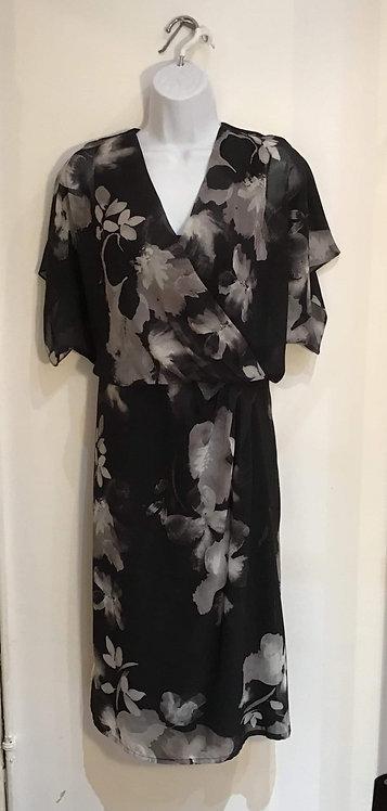 Jacque Vert Chiffon Black Dress