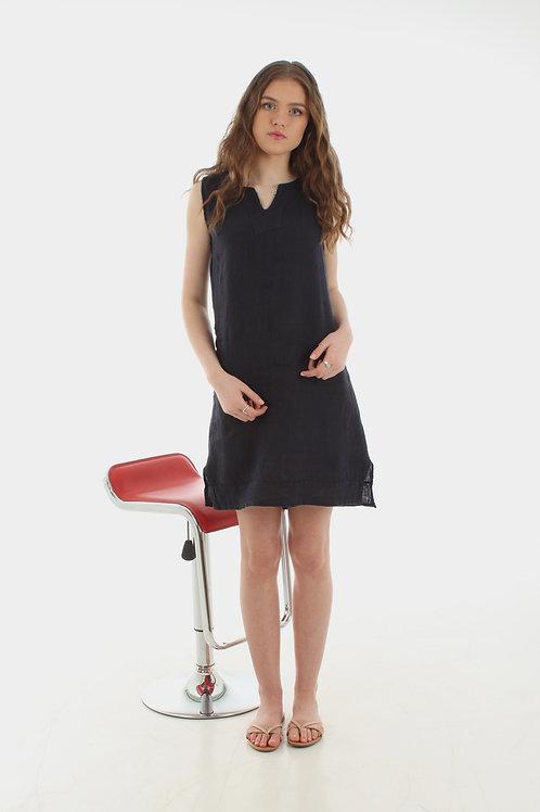 Short V Dress Navy