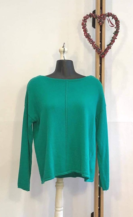 Short Slash Neck Green