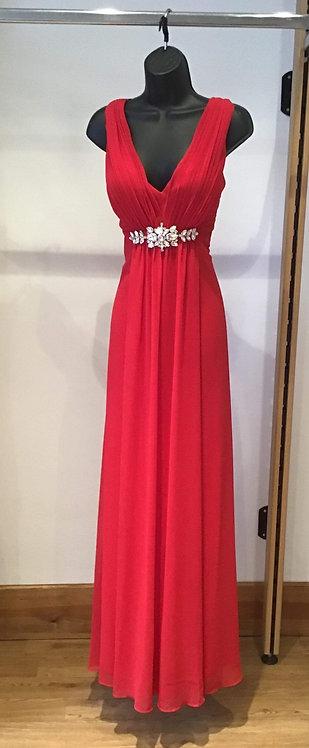 Yve Chiffon Dress Red