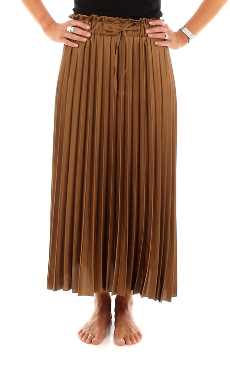 Pleated Skirt Golden Caramel