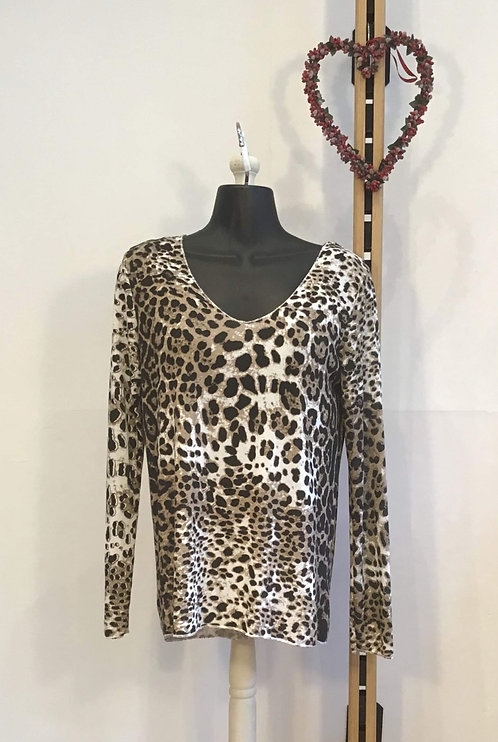 Long Sleeve Leopard Print Knit