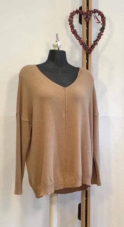 Camel V Knit