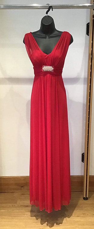 Yve Chiffon Dress Red