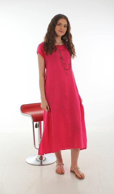 Cap Sleeve Dress Fuchsia