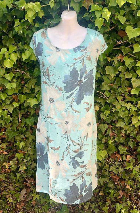 Duck Egg Flower Dress