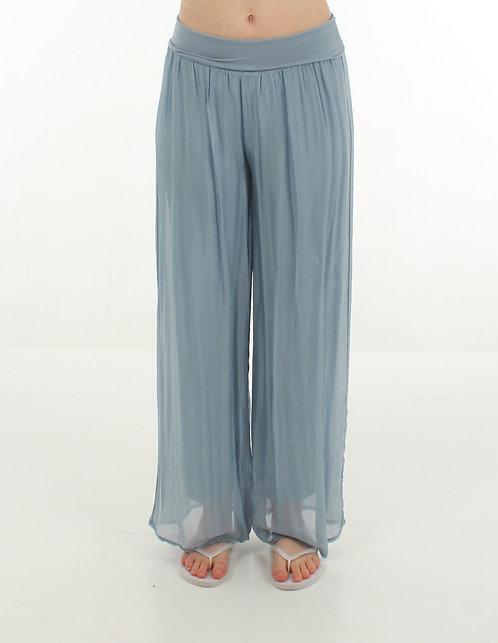 Silk Trousers Powder Blue