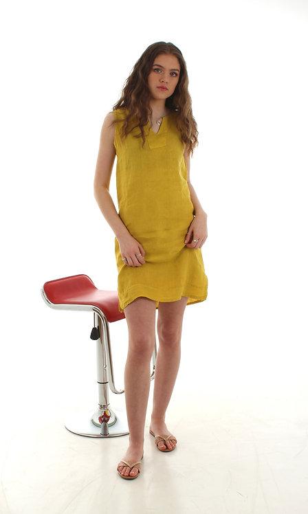 Short V Dress Yellow