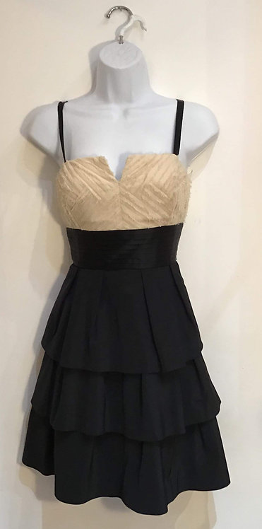 Taffeta Black/Cream Dress