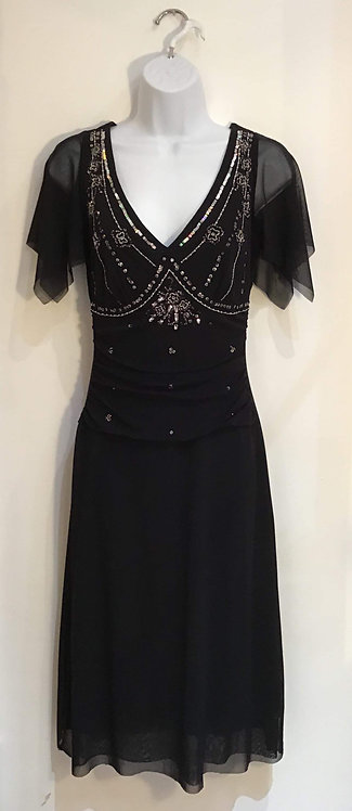 Beaded Black Dress