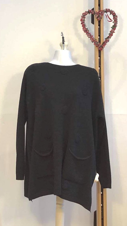 Circle Jumper Black
