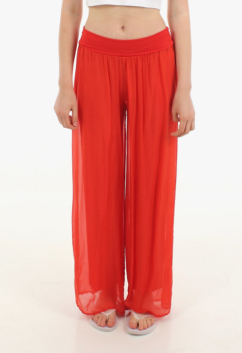 Silk Trousers Orange