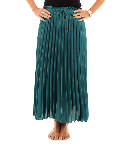 Pleated Skirt Dark Turquoise