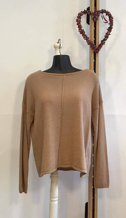 Short Slash Neck Camel