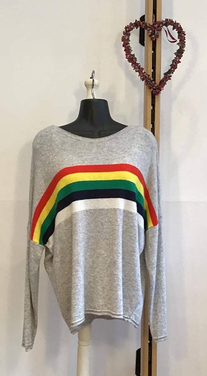 Rainbow Knit Grey