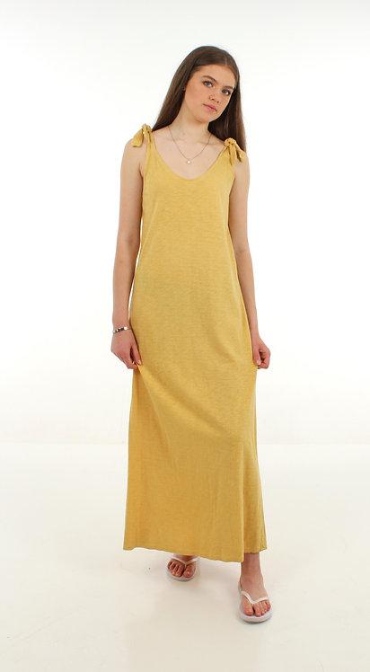 Long Cotton Dress Yellow