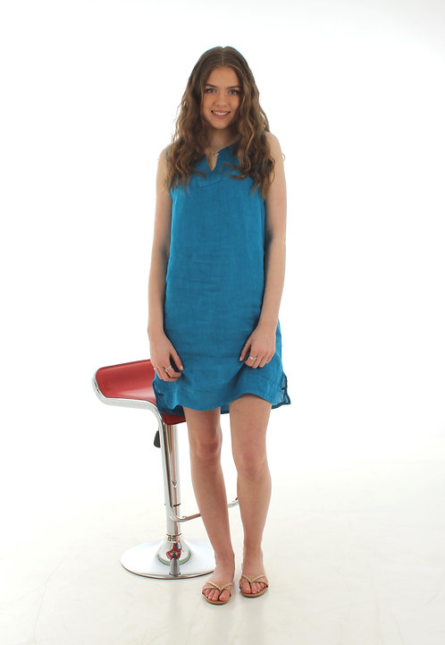 Short V Dress Turquoise