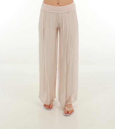 Silk Trousers Blush