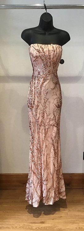 Rose Gold Strapless Dress