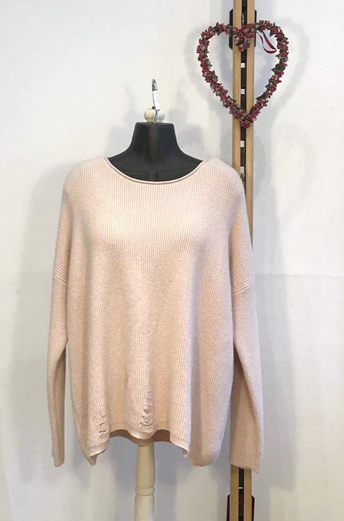 Scoop Neck Jumper Pink