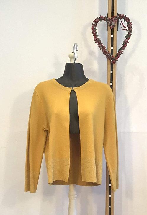 Silver Edge Panel Cardigan Yellow