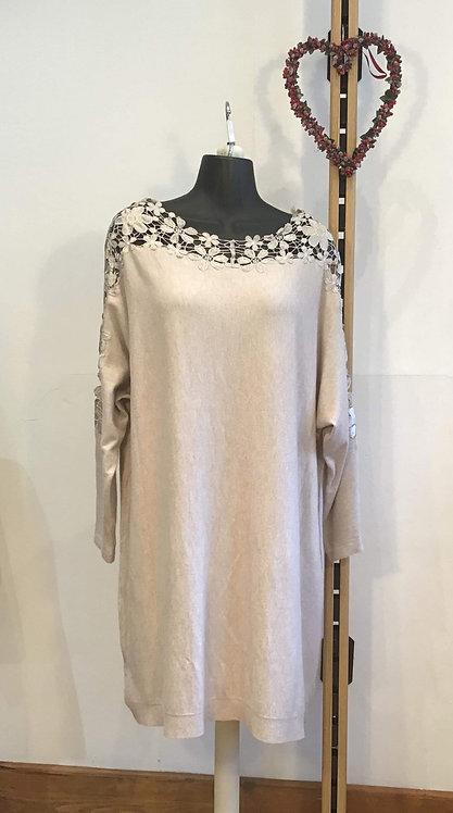 Flower Lace Dress Oat