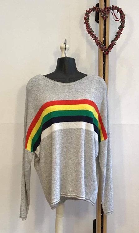 Rainbow Knit Grey