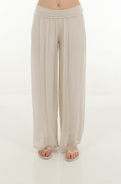 Silk Trousers Cream