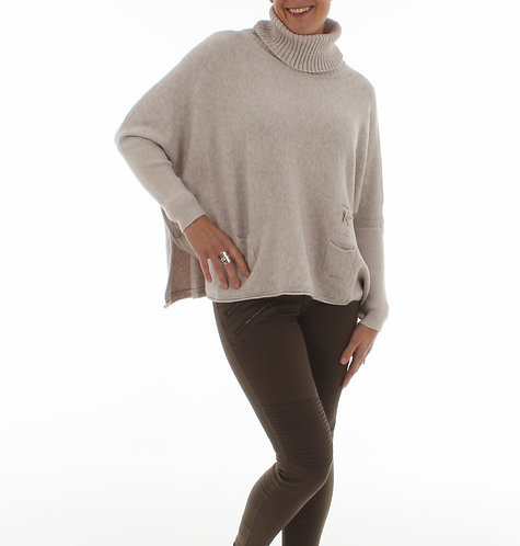 Side Button Jumper Taupe