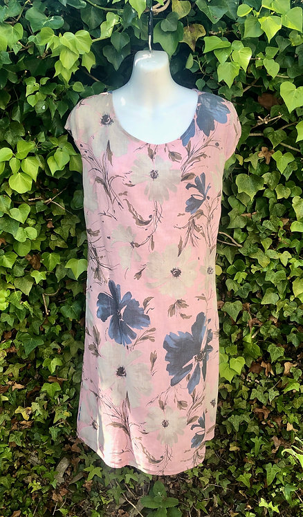 Pink and Beige Flower Dress