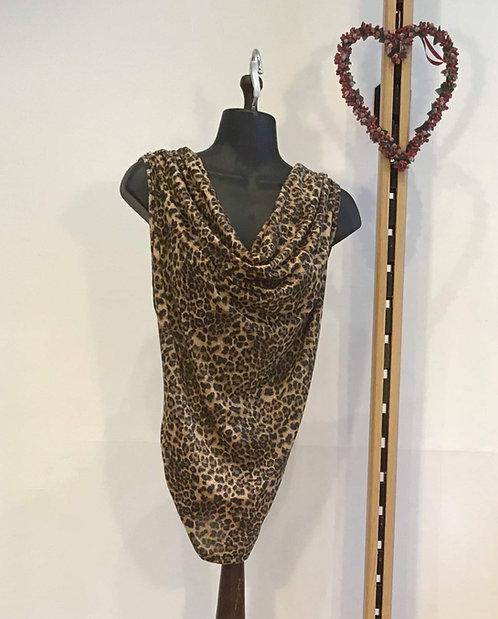Small Print Leopard Silk Blouse